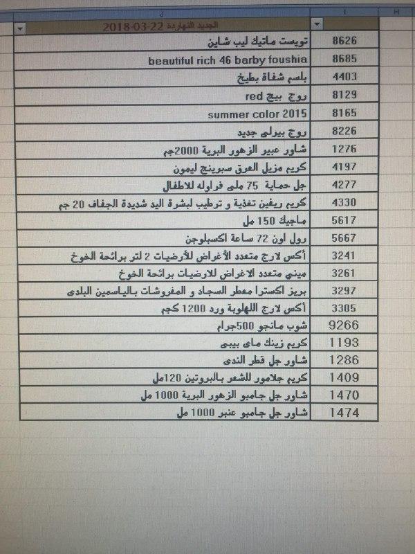 منتجات توفرت بفرع شحن القاهره اليوم الخميس 22 مارس 2018 00000060