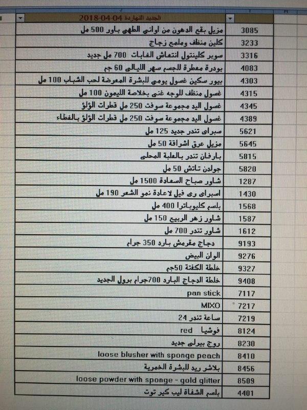 عربية منتجات فرع شحن القاهره اليوم الاربعاء 4-4-2018 0418
