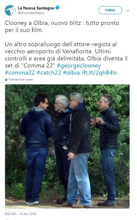 George Clooney spotted in Sardinia again - Catch 22 Cloone11