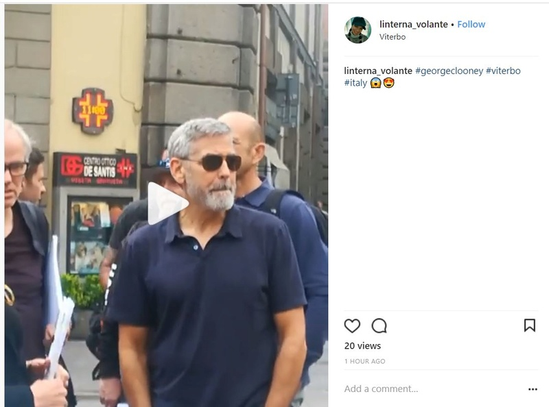 George Clooney back in Viterbo, Italy - 10 May Instag11