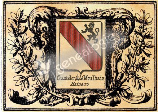 Armoiries alliance plaque cheminée 1695 B7702c10
