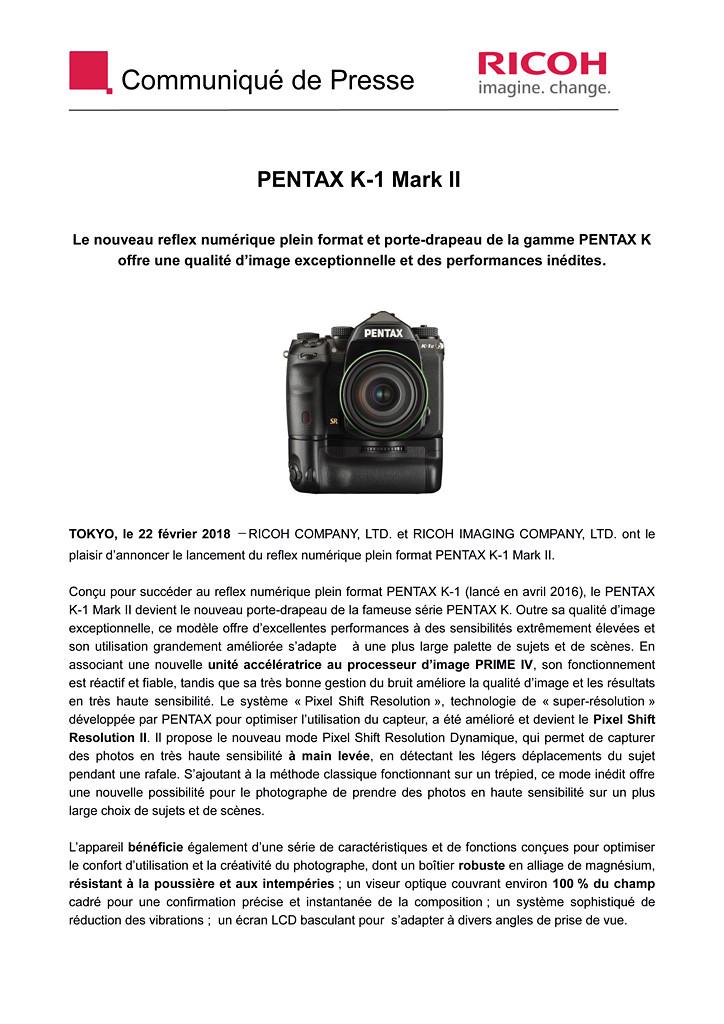 PENTAX RICOH IMAGING - Communiqué de Presse 22/02/2018 - K-1 Mark II Cp_pen10