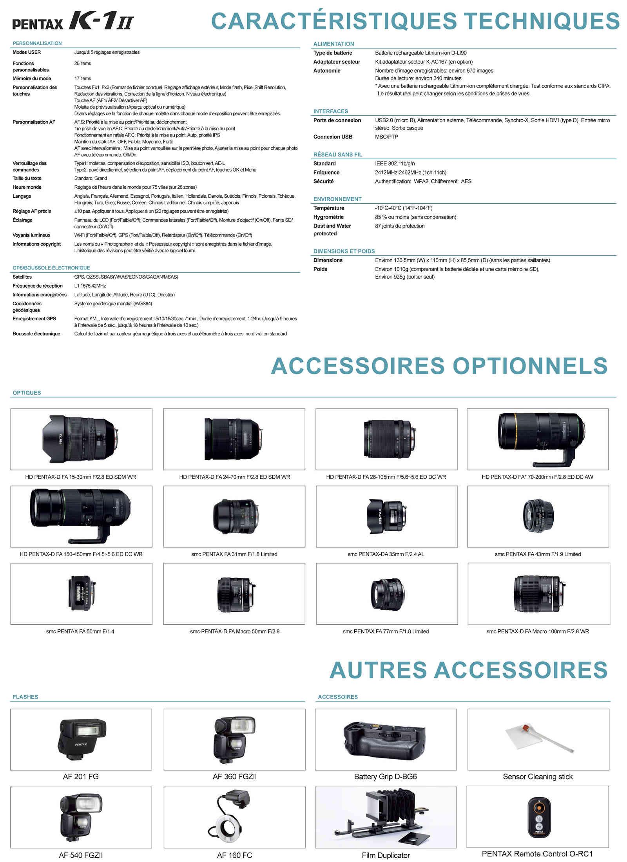 PENTAX RICOH IMAGING - Communiqué de Presse 22/02/2018 - K-1 Mark II Fiche_12