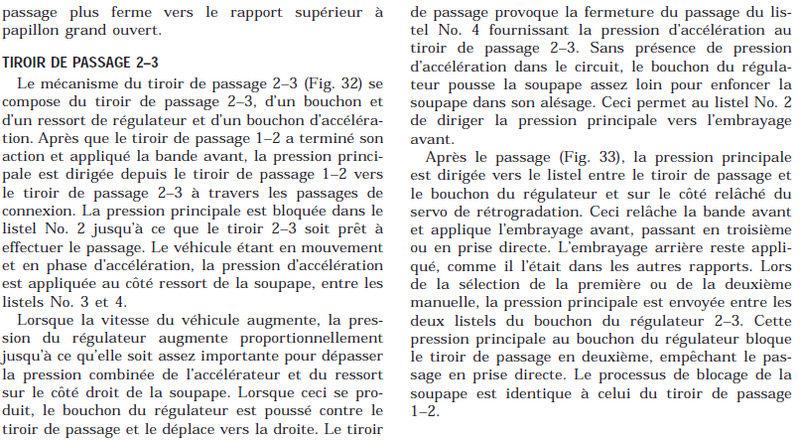 Boite 42RE - Problème de passage 2 vers 3 310