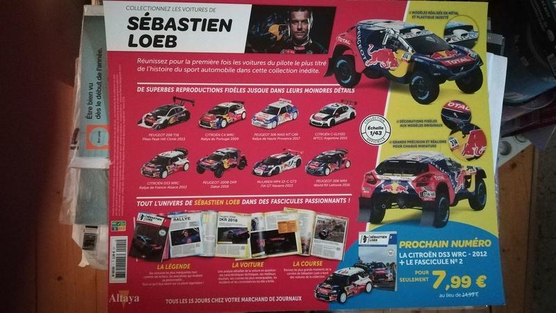 """2018 NOUVEAU > ALTAYA > """"Collection Sébastien Loeb"""" au 1/43  28235110"""
