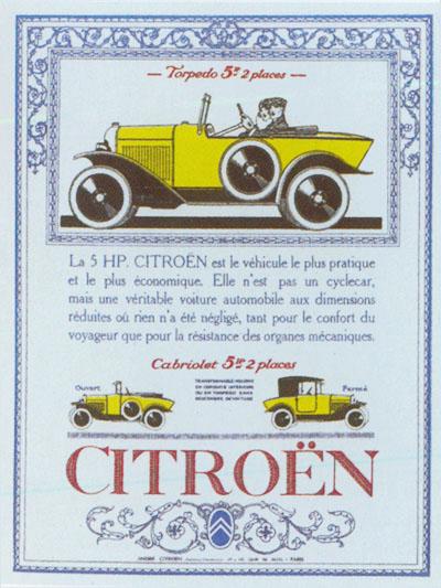 1923 - CITROËN C 2 - 5 cv torpedo 5hp-ad10