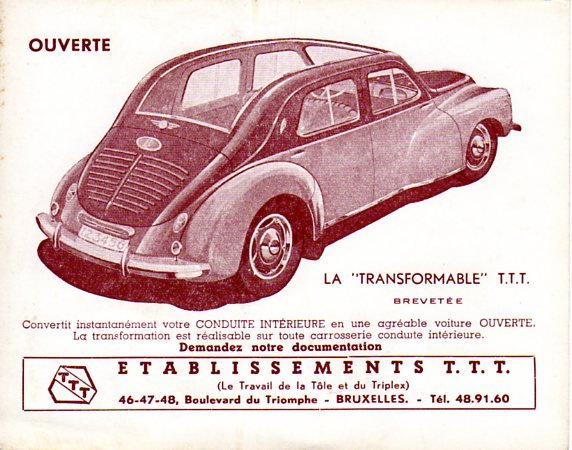 Citroën - Les Traction-Avant Citroën belges T.T.T. 1949 - 1952   Big-5610