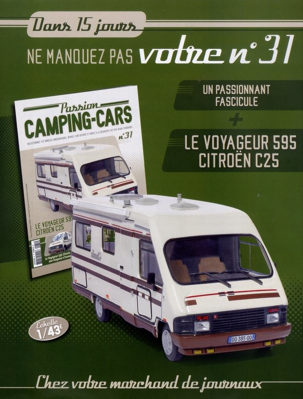 """2017 - Hachette Collections > """"Passion CAMPING-CARS"""" Big-7210"""
