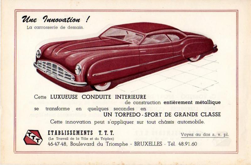 Citroën - Les Traction-Avant Citroën belges T.T.T. 1949 - 1952   Citroe36