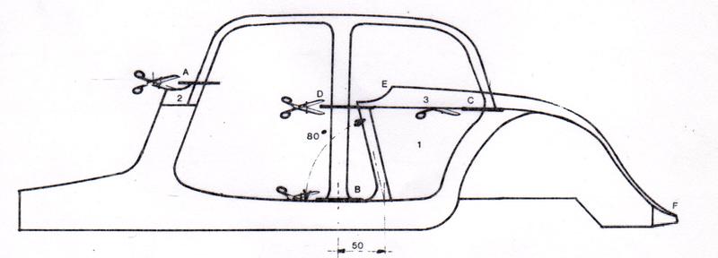 Traction 15 Six Cabriolet sur base HELLER 1/8ème Coupe_10