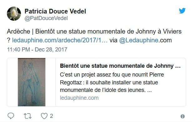 Ardèche : bientôt une statue monumentale érigée à la gloire de Johnny Hallyday ?  Cafy-d11