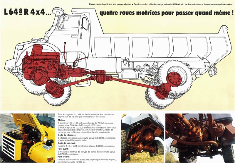 """N°10 - L 64-6 M3 4X4 cabine relaxe 1965 """"Chasse neige"""" Berlie14"""
