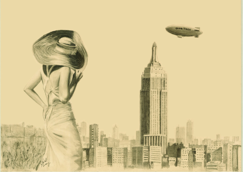 AIRSHIP GOODYEAR TO EMPIRE STATE BUILDING Goodye12