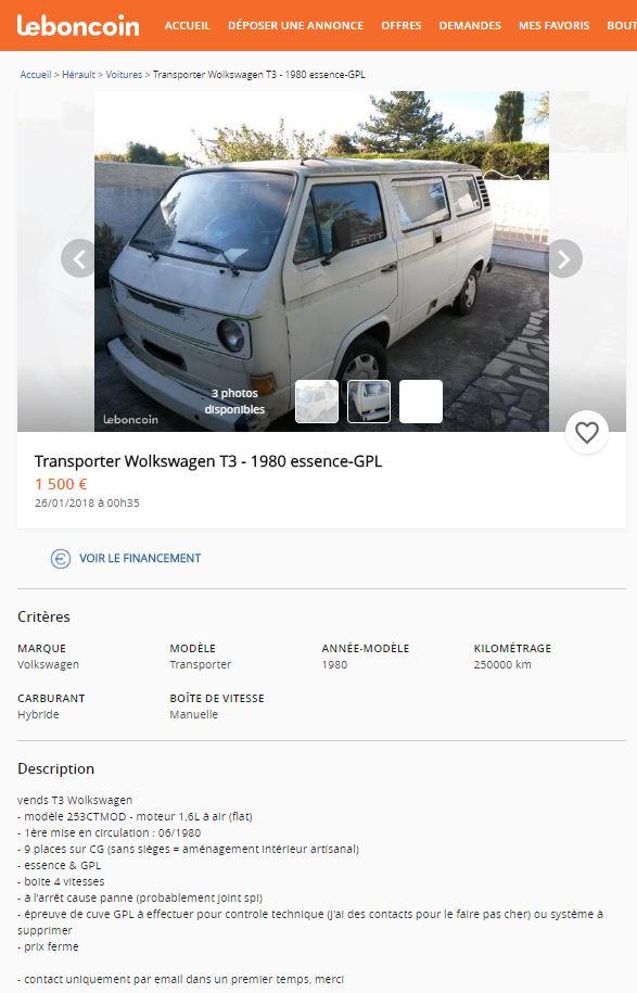 Votre avis sur ce Transporter 3 GPL/Essence T310