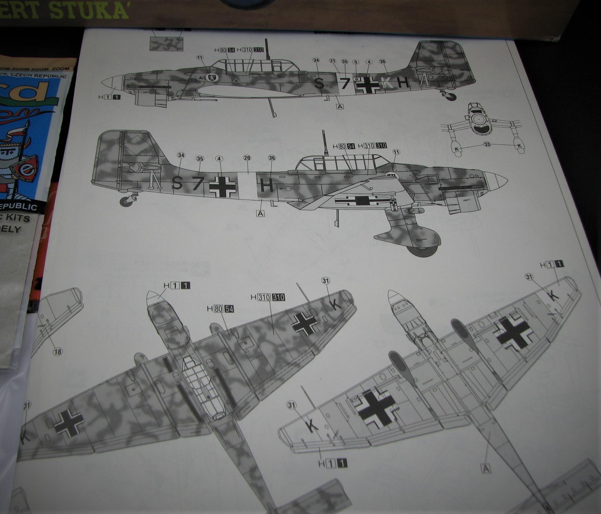 JU 87B STUKA  TROP HASEGAWA 1/48 +AFTERMARKETS... Img_6291