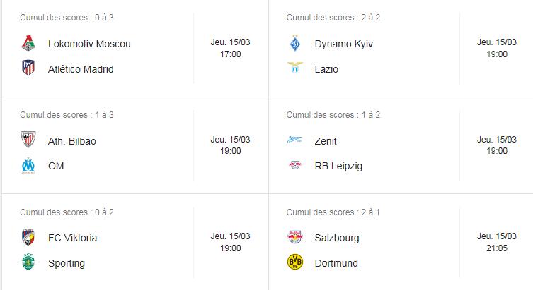 ligue europa 3eme journée Captur42