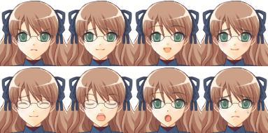 FaceSet féminin à partir d'un générateur Facese11