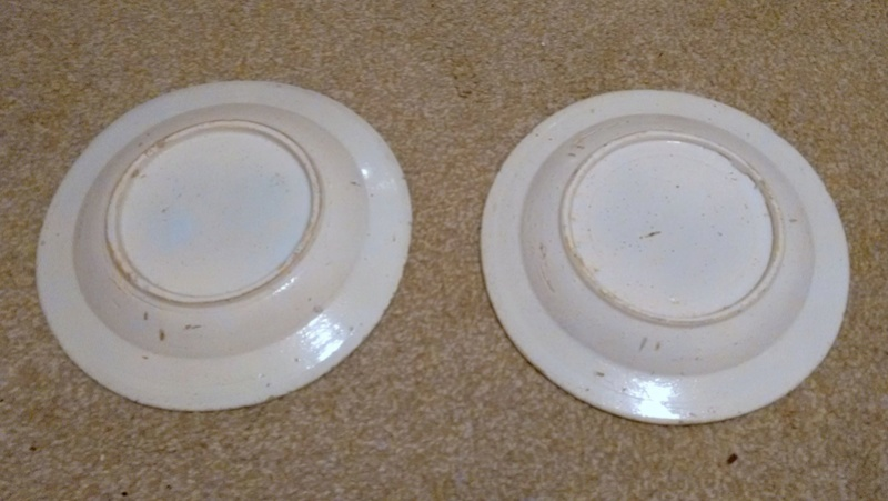 English? Blue & White 17th Century? Tin Glazed? Spongeware plates  211