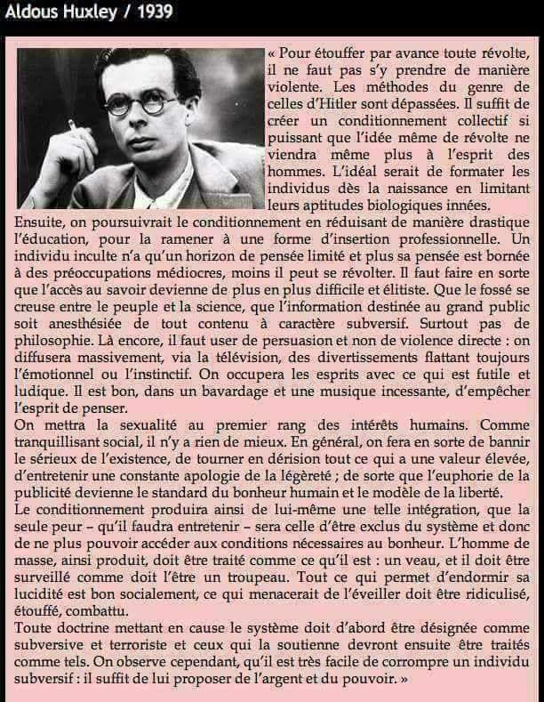 Aldous Huxley  prophétique? 27750410