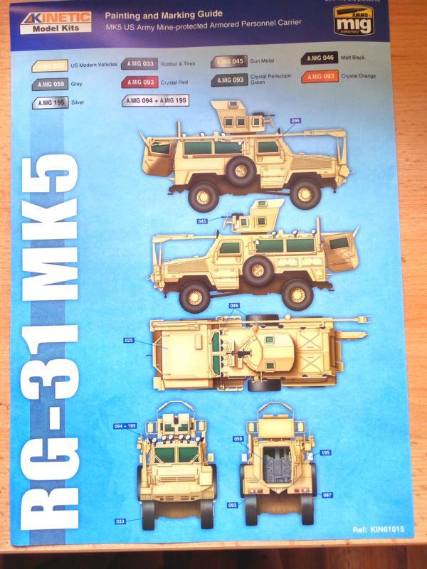 Kinetic Model RG-31 MK5 1/35 1511