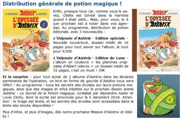 Les secrets de la potion magique - livre offert à l'achat de deux albums Astérix  Potion10