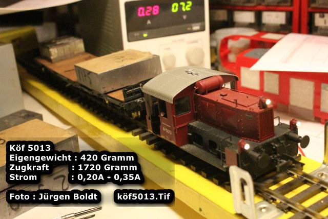 Test von Spur 0 Fahrzeugen  Test6f13