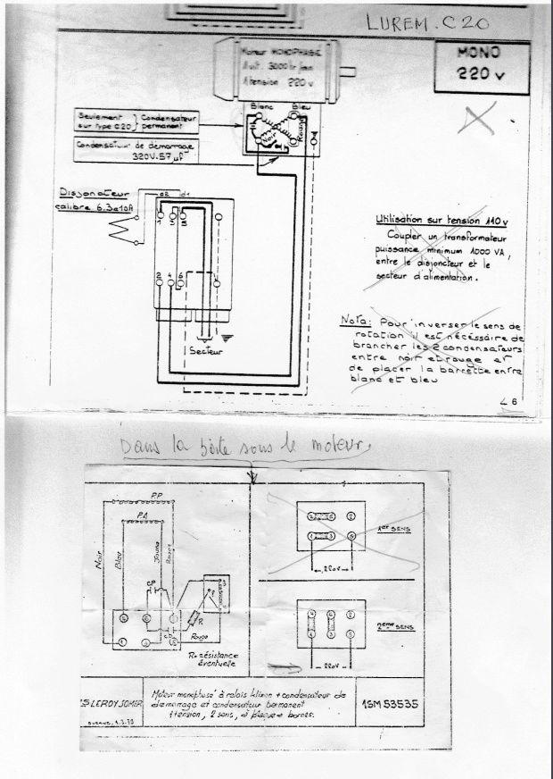 remplacer un disjoncteur démarreur sur un moteur monophasé 220 V 110