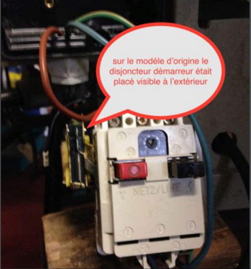 remplacer un disjoncteur démarreur sur un moteur monophasé 220 V 410