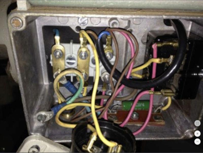 remplacer un disjoncteur démarreur sur un moteur monophasé 220 V 710