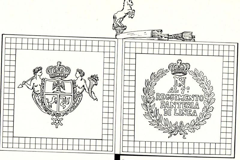 Drapeaux napolitains capturés à Dantzig en 1813 Drapea13