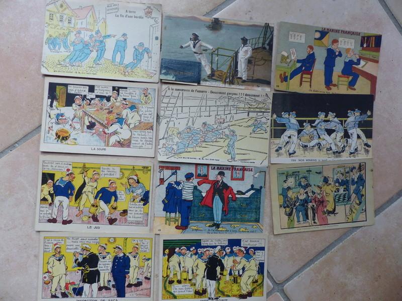 """Vente de 11 cartes humoristiques thème """"Marine"""" (Vendu) ... P1030401"""