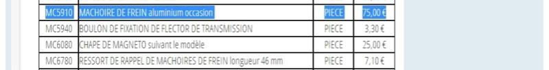 Machoires de frein  F2c01510