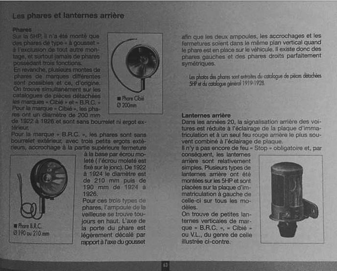 Phare et feux directionnel mentions    brc Unt111