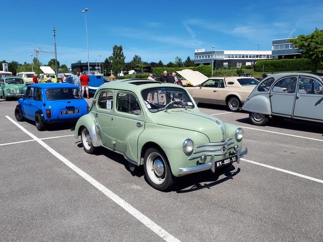 Balade du 3 Juin: Rassemblement voitures anciennes de mont St Aignan et lyons La forêt. 20180612