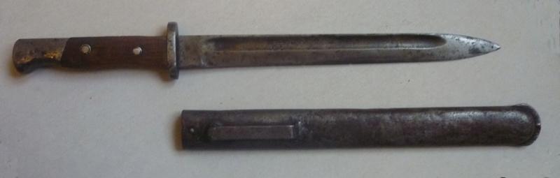 baïonnette serbe mle 1899 transformée en poignard P1060110