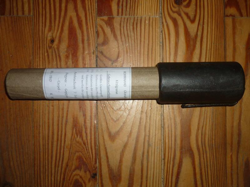 Grenade a manche Rohr - restauration P1260212