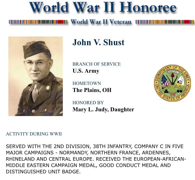 John Shust 2ND DIVISION 38TH INFANTRY COMPANY C 66f81f10