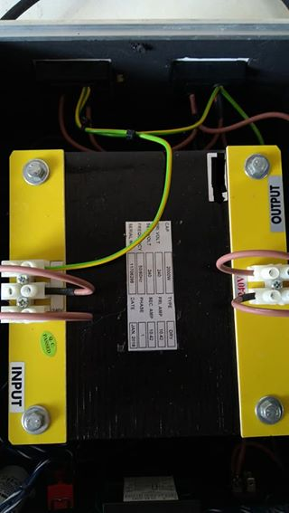 Isolation Transformer 2500VA (2000Watt) - custom made C16