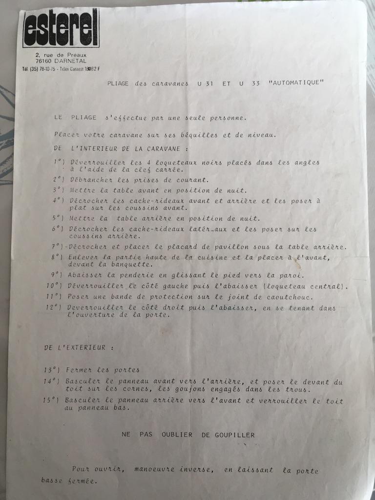 Différents documents sur pliantes U31 et U33 12b37f10