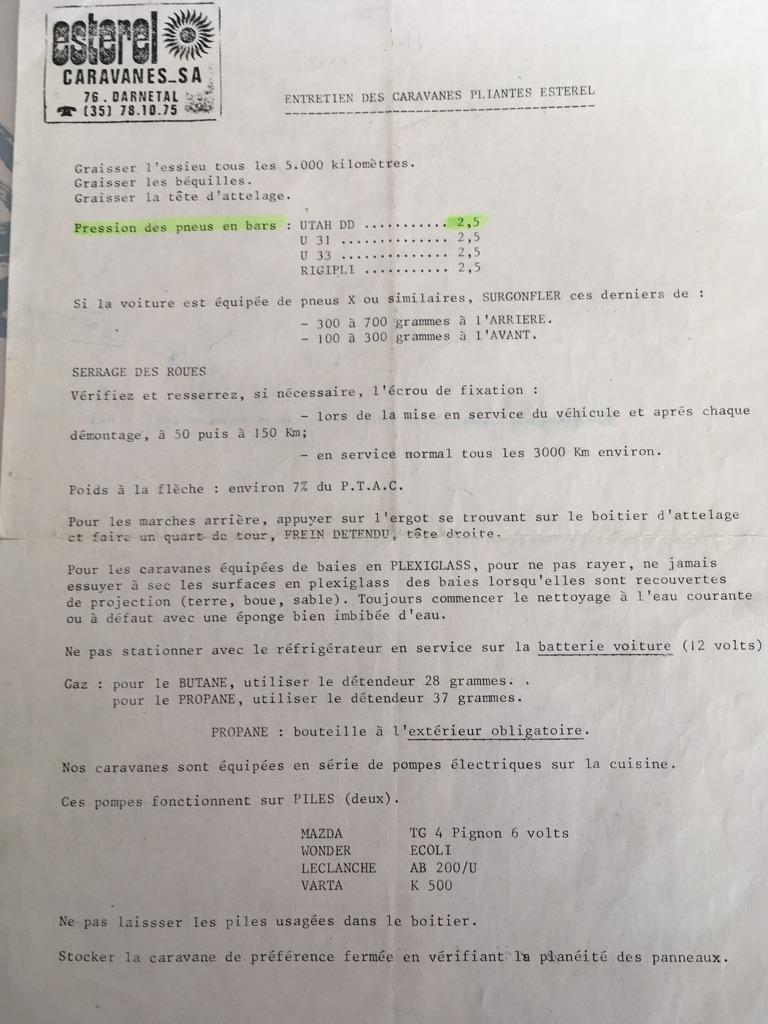 Différents documents sur pliantes U31 et U33 27237b10