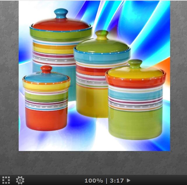 Puzzle #0351/ Multicolor sets jars Aa135