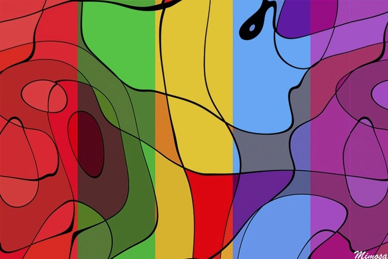 Puzzle #0364 / Modern Abstract ART #9 by Mimosa Modern15