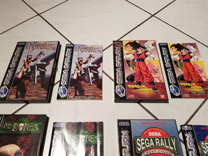 (VDS) : Console Saturn + 12 jeux (Mr bones, panzer dragoon, DBZ,...) 20180122