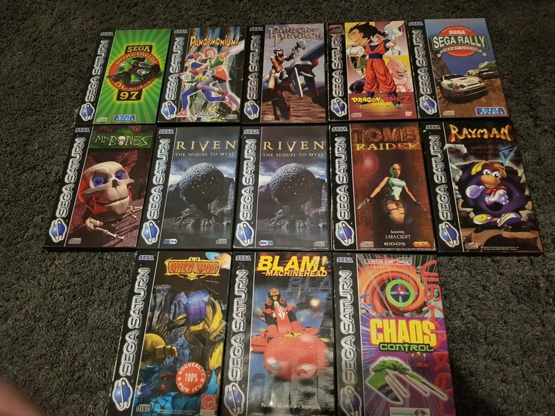 (VDS) : Console Saturn + 12 jeux (Mr bones, panzer dragoon, DBZ,...) 20180126
