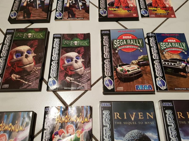 (VDS) : Console Saturn + 12 jeux (Mr bones, panzer dragoon, DBZ,...) 20180127