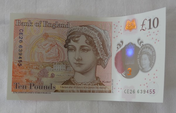 New plastic £10 note featuring Jane Austen unveiled Dsc03212