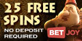 BetJoy Casino Mobile 25 Free Spins No Deposit Bonus