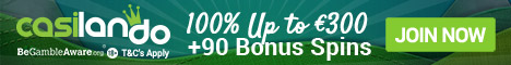 Casilando Casino 50 Free Spins no deposit Bonus