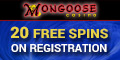 Mongoose Casino 20 Free Spins no deposit bonus