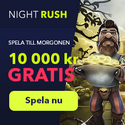 NightRush Casino 25 Free Spins uta förskottsbetalning